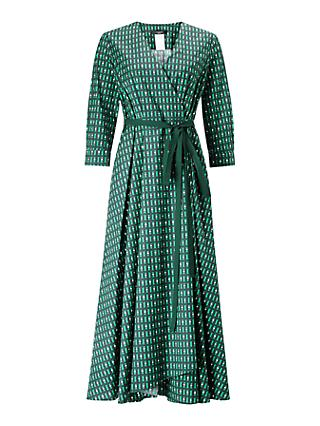 Weekend MaxMara Ravello Wrap Dress, Emerald