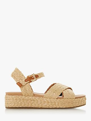 Dune Lambada Cross Strap Sandals