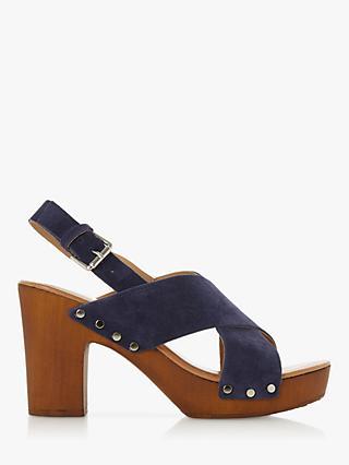 6e6c12ef748 Dune Immi Leather Wooden Platform Sandals