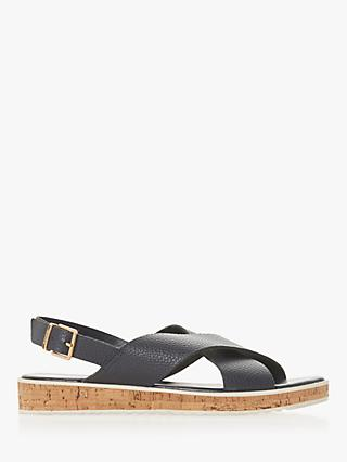 Dune Lorde Cross Strap Sandals