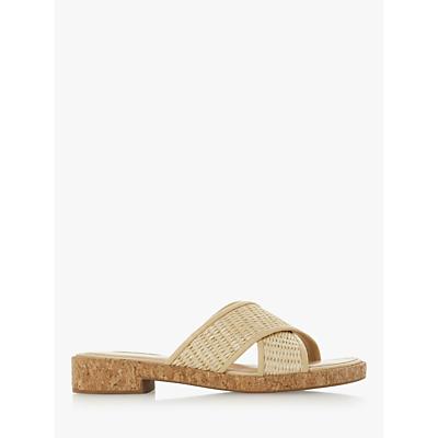 Dune Lilanna Cross Strap Slider Sandals, Natural