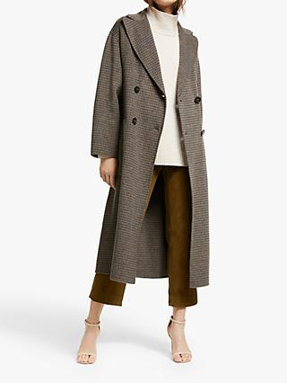 Weekend MaxMara Orense Check Wool Blend Coat, Medium Grey
