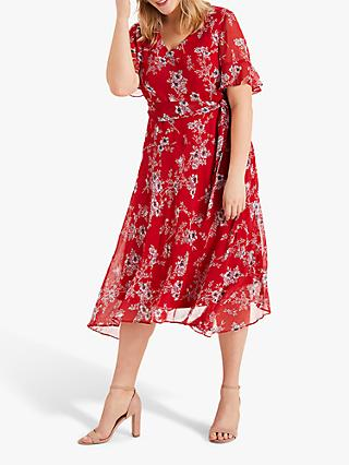 Studio 8 Hasina Floral Dress, Red/Multi