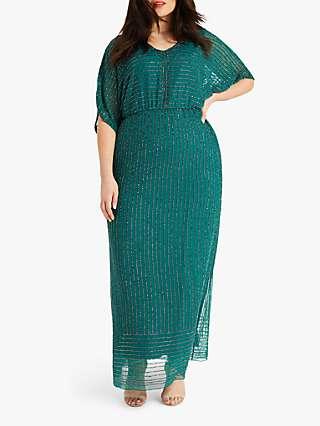 Studio 8 Hera Beaded Dress, Emerald