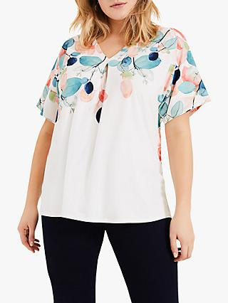 Studio 8 Samira Leaf Print Top, Ivory/Multi