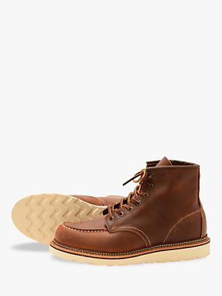 Red Wing 1907 Classic Moc Toe Boots, Copper