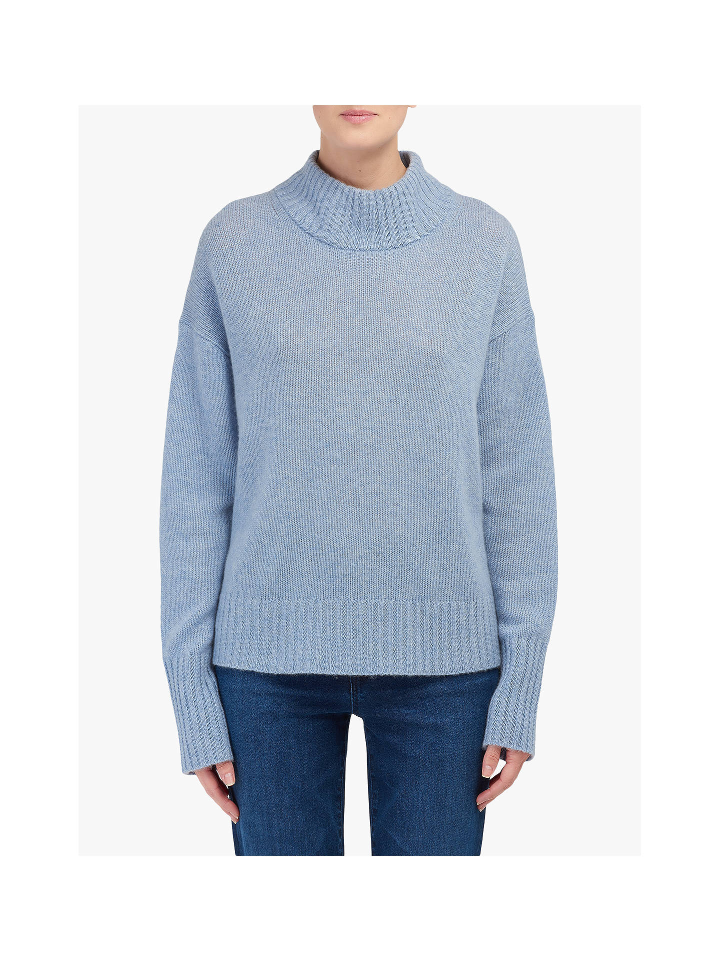 5918707fc6 360 Sweater Lyla Polo Neck Cashmere Jumper, Stonewash