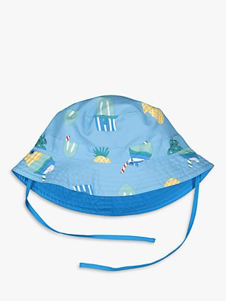 Polarn O. Pyret Children's Ice Cream Reversible Sun Hat, Blue