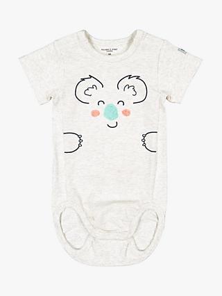 52fb3c933 Polarn O. Pyret Baby Koala Face Bodysuit, Neutral