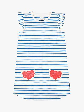 Polarn O. Pyret Children's Stripe Shirt Dress, Blue