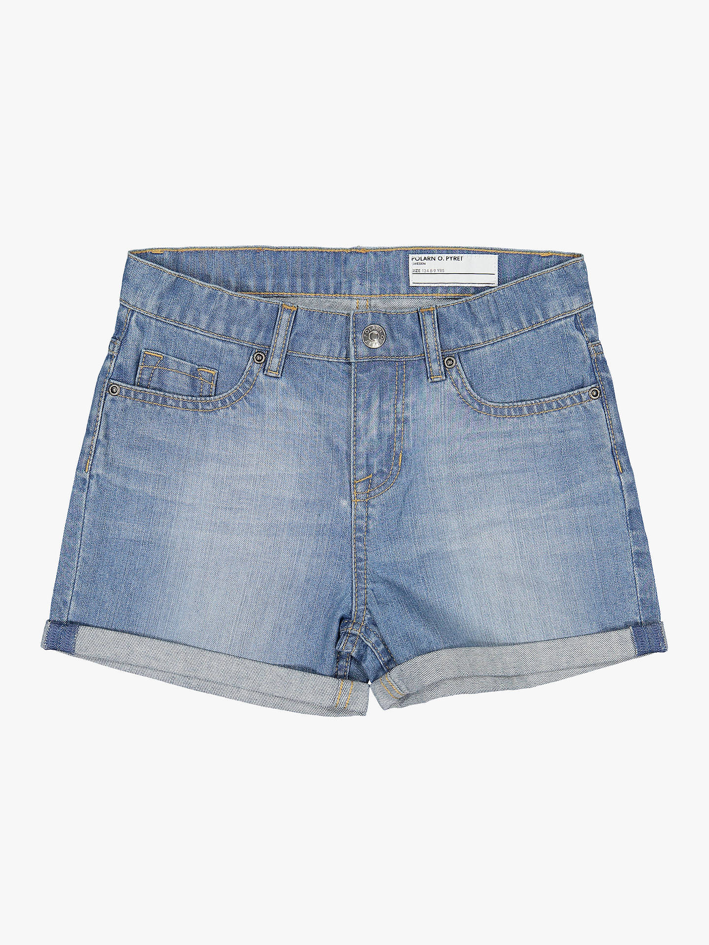 3efb9cf6413c Buy Polarn O. Pyret Children's Denim Shorts, Blue, 6-7 years Online ...