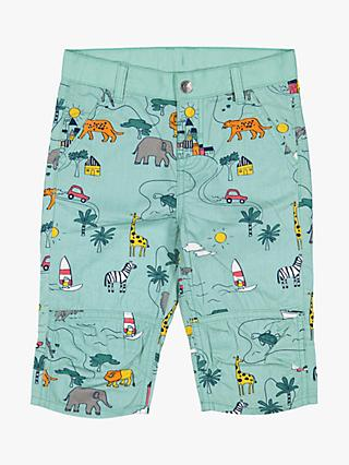 Polarn O. Pyret Children's Safari Shorts, Aqua