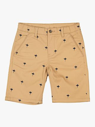 Polarn O. Pyret Children's Palm Print Shorts, Beige
