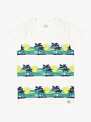 Polarn O. Pyret Children's Palm Tree T-Shirt, White