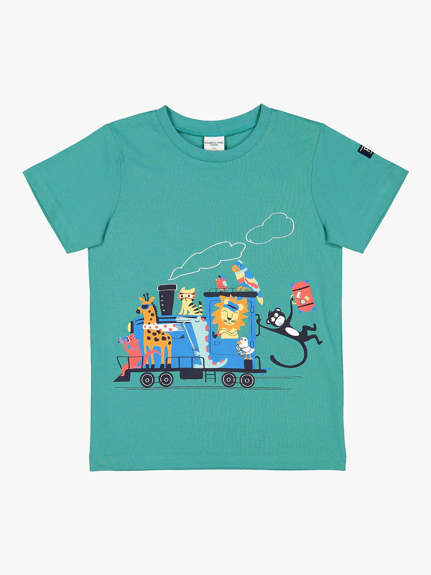 020d37e1 Buy Polarn O. Pyret Children's Vacay Graphic T-Shirt, Green, 12- ...