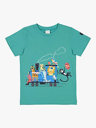 Polarn O. Pyret Children's Vacay Graphic T-Shirt, Green