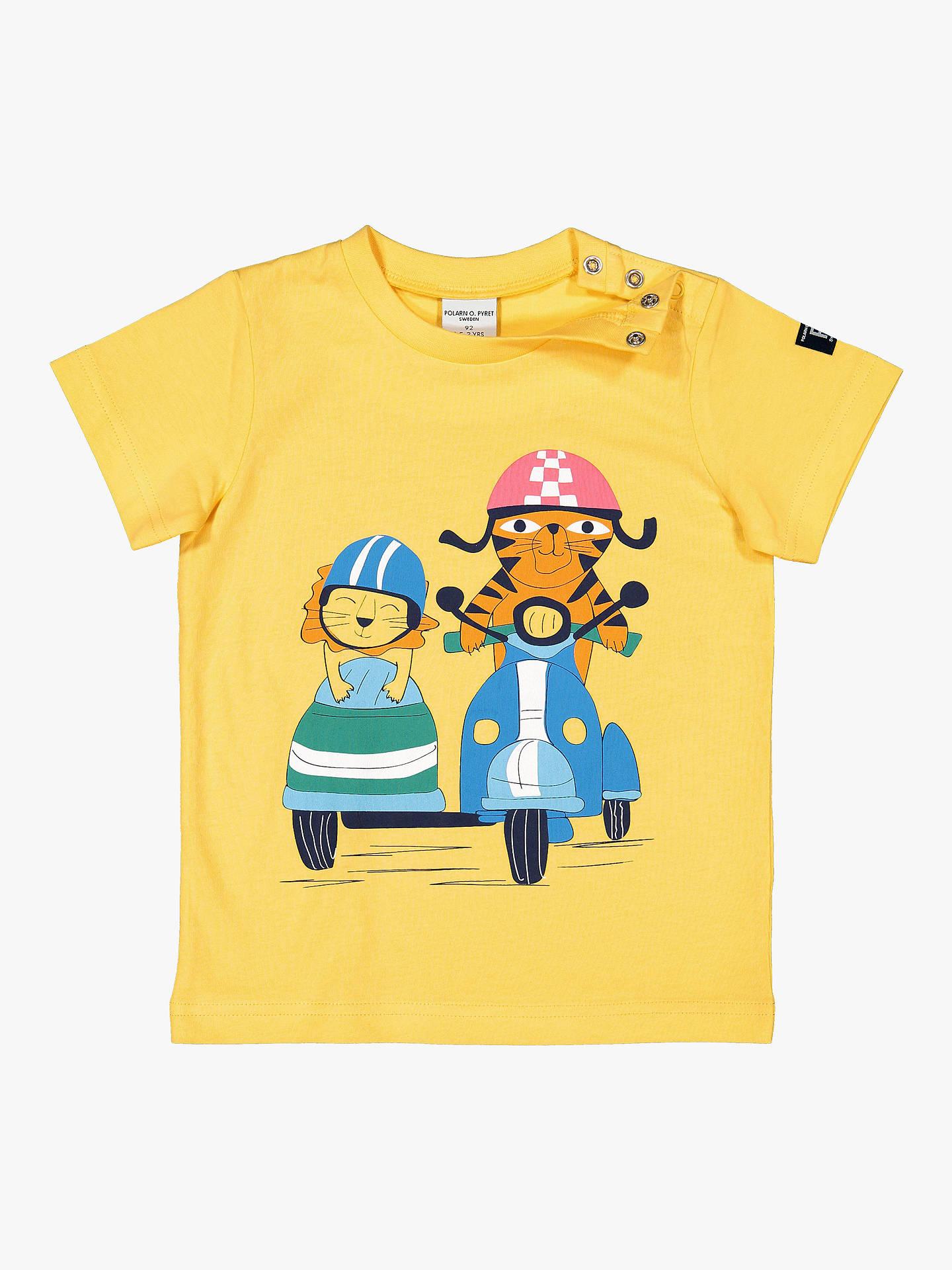 047f2a48 ... Buy Polarn O. Pyret Children's Surf Van Graphic T-Shirt, Yellow, 12 ...