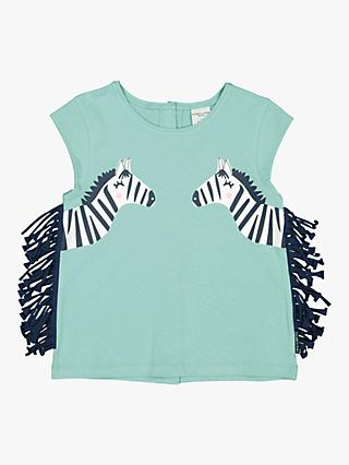 Polarn O. Pyret Children's Zebra Tails Top, Aqua