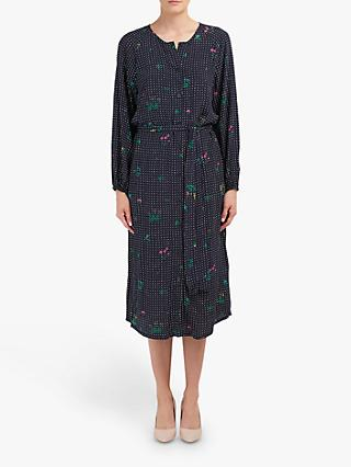 Essentiel Antwerp Tataclean Spot Floral Print Dress, Denim