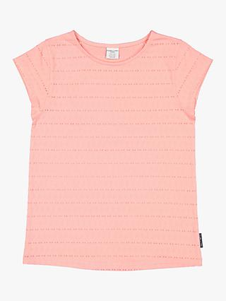 Polarn O. Pyret Children's Textured T-Shirt, Pink