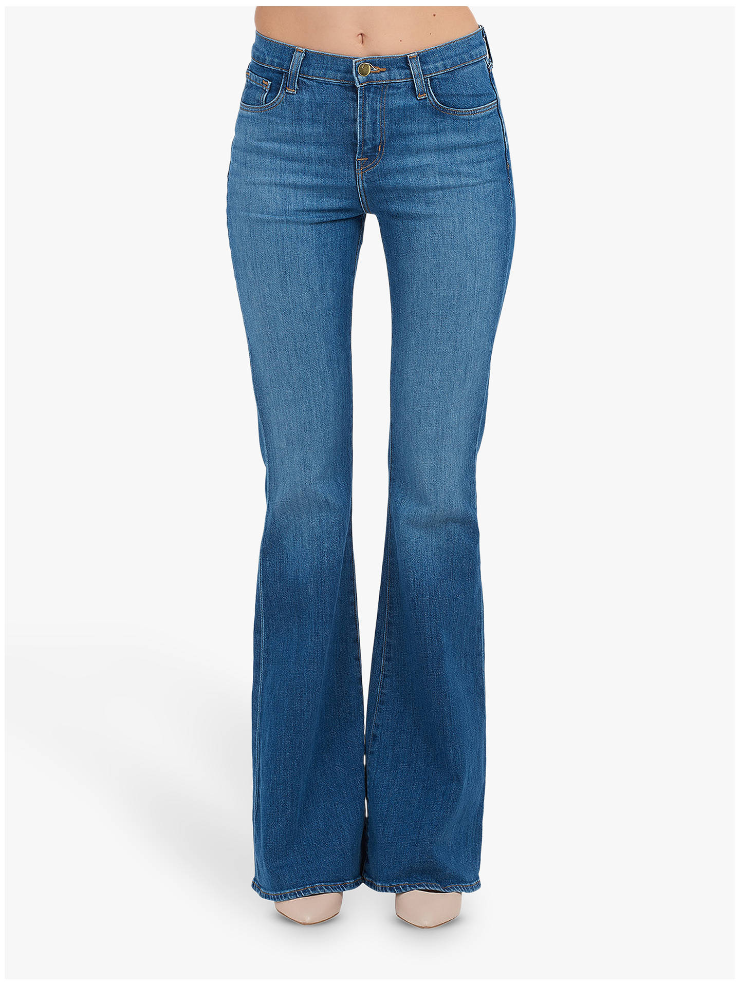 Buy J Brand Valentina High Rise Flare Jeans, Endeavor, 24 Online at johnlewis.com