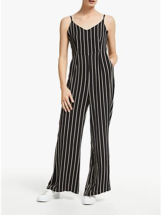Just Female Anna Jumpsuit, Black/White