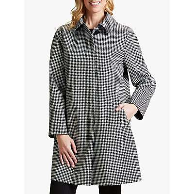 Four Seasons Check A-Line Mac, Black/White