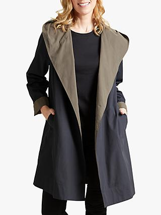 b2cee73e0a3e6 Four Seasons Hooded Two Tone Wrap Coat