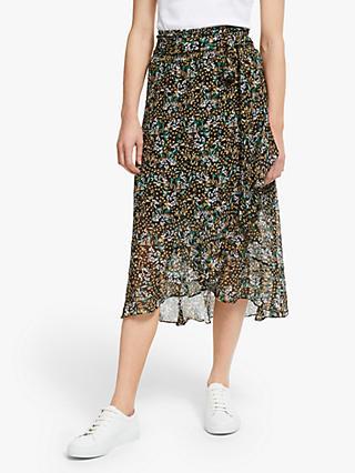 da0d5ac006 Second Female Wise Midi Skirt, Black/Multi