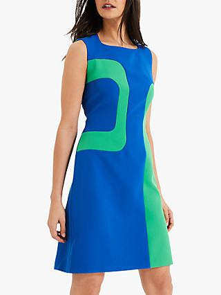 Damsel in a Dress Lucilla Block Colour Dress, Green/Turquoise