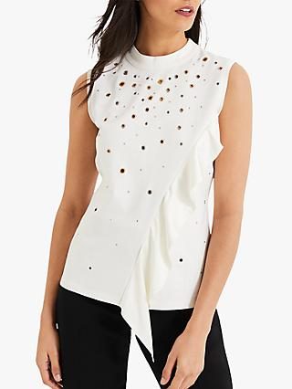 Damsel in a Dress Biana Eyelet Jersey Top, White