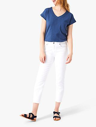 White Stuff Denim Crop Jeans, White