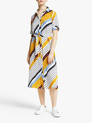 Gestuz Dianona Dress, Yellow Stripe