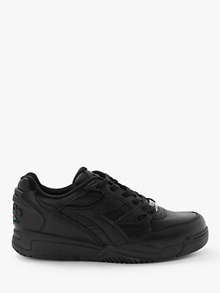 Diadora Rebound Ace Leather Trainers, Black