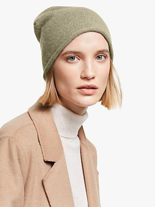 John Lewis & Partners Cashmere Roll Beanie