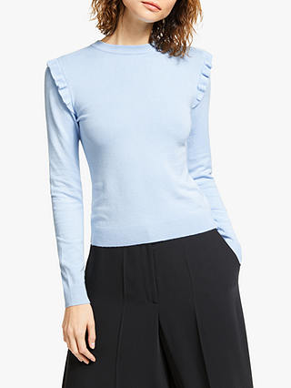 Buy Somerset by Alice Temperley Frill Shoulder Jumper, Sky Blue, 8 Online at johnlewis.com