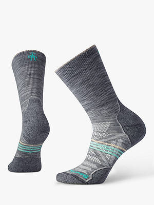 Buy SmartWool PhD Outdoor Light Crew Hiking Socks, Light Grey, S Online at johnlewis.com