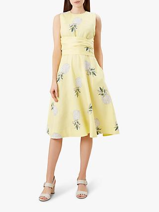 Hobbs Twitchill Linen Dress, Buttercup