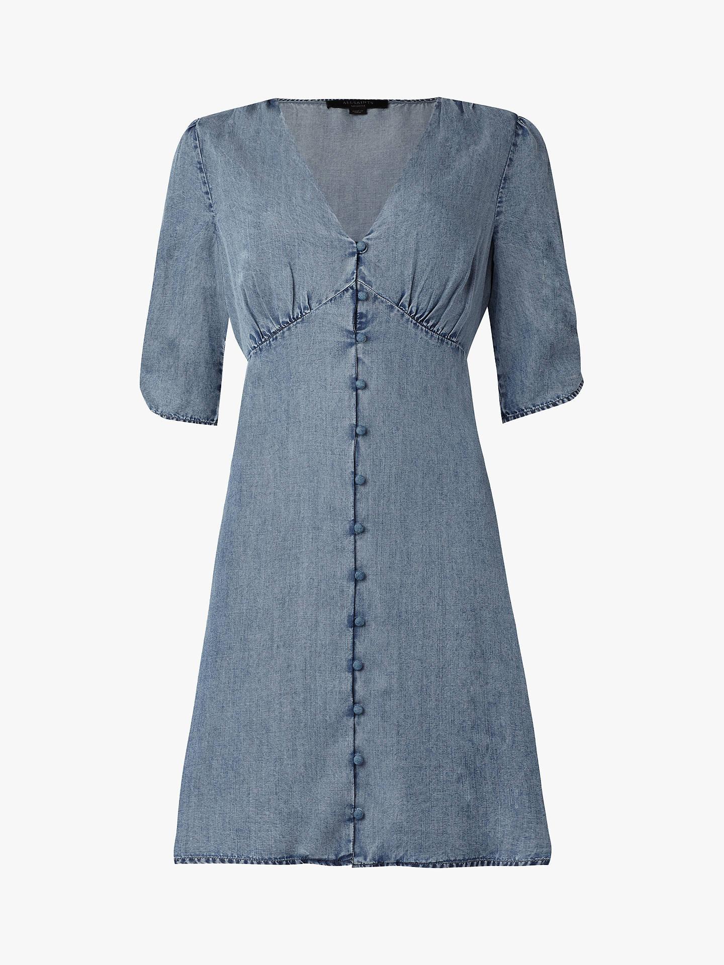 0dc6cf53 AllSaints Kota Dress, Indigo Blue