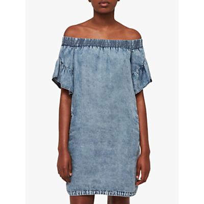 Image of AllSaints Adela Tencel Dress, Indigo