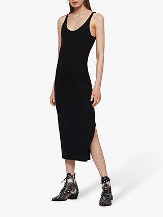AllSaints Blyth Long Dress, Black