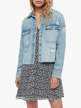 AllSaints Kyrie Denim Shirt Jacket, Light Indigo