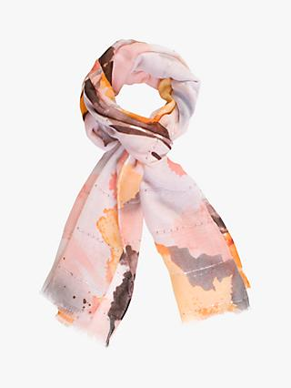 chesca Voile Abstract Print Scarf