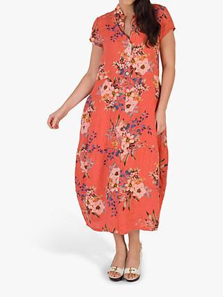 a054905315 chesca Floral Print Linen Dress