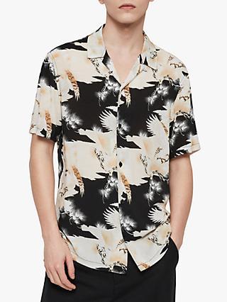 60f0939ddab AllSaints Talon Eagle Print Short Sleeve Shirt