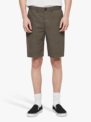 AllSaints Colbalt Chino Shorts, Dusty Khaki Green