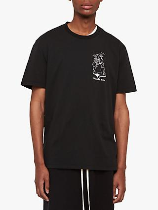 AllSaints Depressed Mode Crew T-Shirt, Jet Black