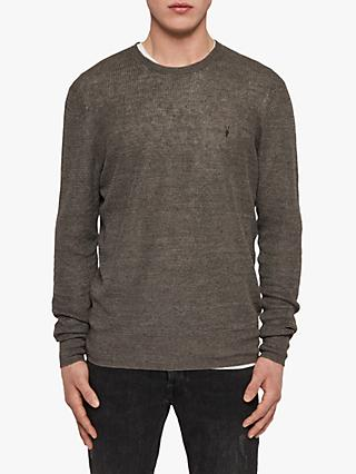 cd47acede91 AllSaints Tarn Linen Slim Fit Jumper