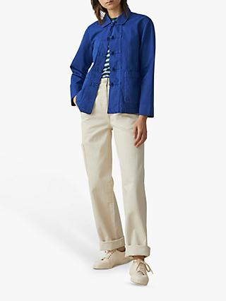 Toast Cotton Twill Jacket, Mazarine Blue