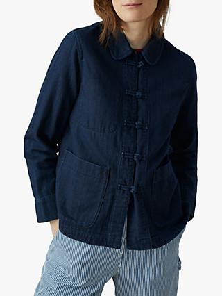 Toast Cotton Twill Workwear Jacket, Indigo